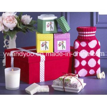Vela perfumada de cera de soja perfumada em frasco de vidro com caixa de presente
