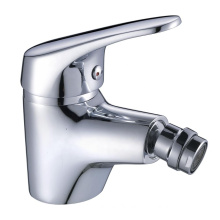 Chrome finish hot and cold water brass wash basin tap toilet faucet