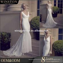 Qualidade superior Guangzhou Factory Real Sample Mais recente Alibaba vestido de noiva curto