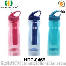 Botella de agua deportiva Tritan con adhesivo de paja y hielo (HDP-0466)