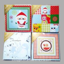 Tarjeta de felicitación adornada hecha a mano / tarjeta de felicitación al por mayor de la Navidad con envuelve