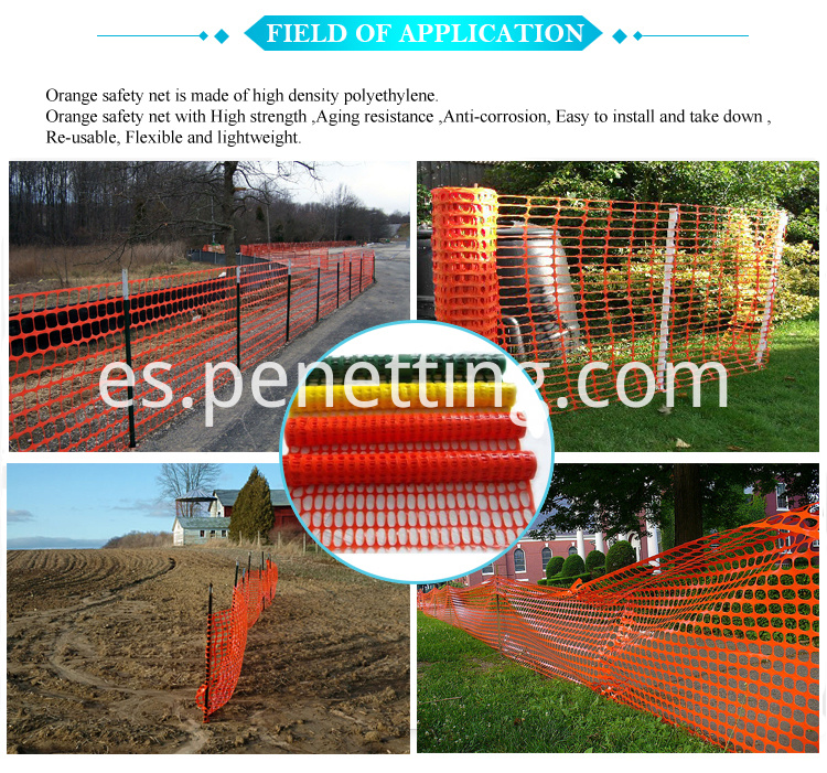 application of Orange warning mesh(1)