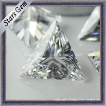 Bling Bling Shining Clear White Tringle Shape Synthetic Diamond Cubic Zirconia for Jewelry