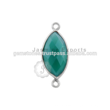 Handmade 925 Sterling Silver Gemstone Bezel Jewelry, Wholesale Best Quality Gemstone Bezel Connectors