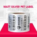 OEM self adhesive plain silver PET sticker label