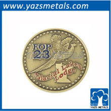 metal gold silver brass plating eagle coin