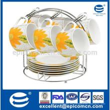 Tazas de té desechables de Oriente Medio de la porcelana 12pcs