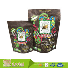 China Manufacturer Customized Printed Food Grade Laminated Material Aluminum Foil Standup Zip Lock Coffee Doypack