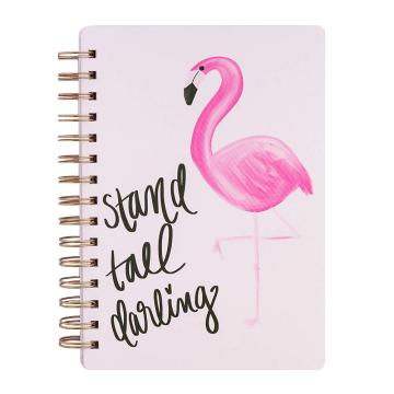 FLAMINGO SPIRAL NOTEBOOK -0