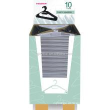 Gancho plástico con el cartón 10pcs / set de la exhibición con la funda de papel