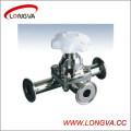 Válvula de diafragma de tres vías de acero inoxidable Wenzhou