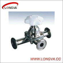 Wenzhou Valve à membrane à trois voies en acier inoxydable