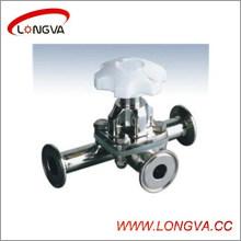 Válvula de diafragma de três vias de aço inoxidável de Wenzhou