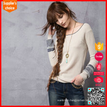 Latest design cashmere knitted sweaters jumpers 100 % cashmere sweater women