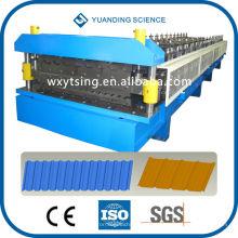 YTSING-YD-000200 Passou CE & ISO 45 # Forge Aço Máquina automática de rolo de camada dupla formando, Máquina de fazer camada dupla