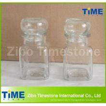 Petit pot carré de verre de 150ml bon marché avec le couvercle scellable en verre