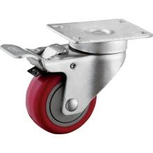 3-Inch Precision Ball Bearing Medium Duty TPU Caster Wheels with Full Lock