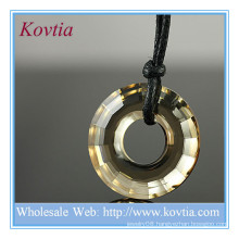 Fashion jewelry shop large crystal ring pendant price