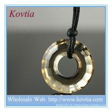 Moda jóias loja de cristal grande preço pingente anel