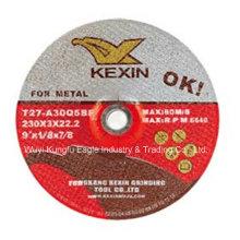 """Disque abrasif abrasif pour acier / métal 9 """"X1 / 8"""" X7 / 8 """""""