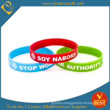 Wholesale Custom Fashion Rubber Silicone Wristband with Logo Printed From China