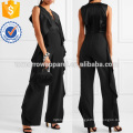 Ruffle-trimmed Satin and Crepe Jumpsuit Manufacture Wholesale Fashion Women Apparel (TA3026J)