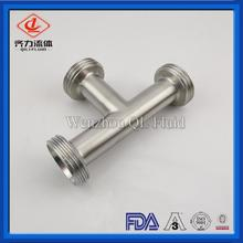 Stainless Steel Sanitary Fittings Equal Tee Thread End