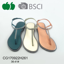 Hot Selling Latest Design Lady Flat Sandals