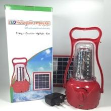 Lanterna LED solar portátil de emergência para o acampamento