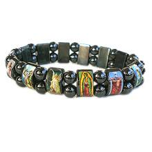 Bracelet à perles en hématite / collier de rosaire