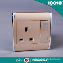 Igoto -New Style Biritish Standard Chorming Frame 13A Wall Switches
