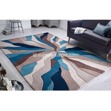 Hand Tufted Carpet Geometric Design
