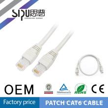 SIPUO alta calidad mejor precio 100% paso Fluke prueba OEM 0,5 mm 24 AWG 1M Cat6e Patch Cord