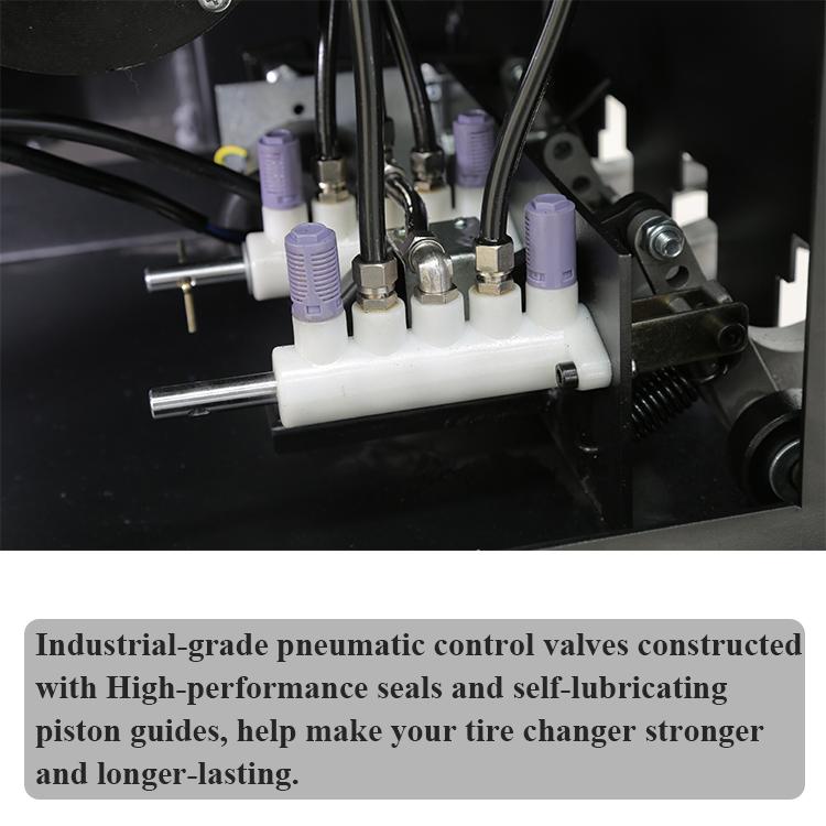 tire changer control valve