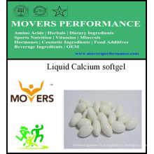 Softgel de calcium liquide / Softgel végétal / aucun préservatifs