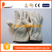 Cow Grain Leather Driver Gloves, (DLD211)