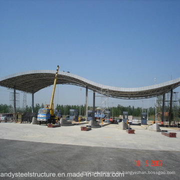 Niedrige Kosten und einfache Installation Space Frame Roofing für Mautstation