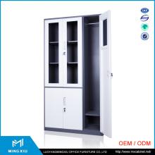 Henan Mingxiu Narrow Edge Glass Door Metal File Cabinet / Steel File Cabinet