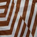 Tecido de algodão voile impresso com listras irregulares