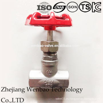 Válvula de globo de acero inoxidable Castin interno roscado 316