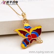 32024-Xuping Femme bijoux costume coloré pendentif papillon