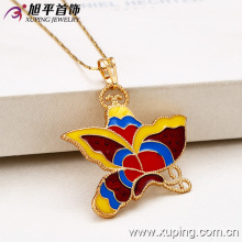 32024-Xuping Female jewelry costume pingente de borboleta colorida