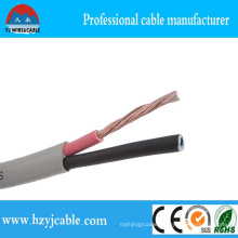 2 Cores Grey Jacket Strand Copper 300/500V Flat Cable
