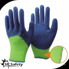 SRSAFETY 7G Acrylic Nappy liner latex coated winter hand gloves