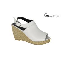 Women′s Slingback PU Espadrille Wedge Sandals