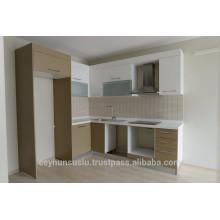 Plain Desing Günstige Preis Kitchen Cabinet, Lackierte Tür und Pantry Cabinet