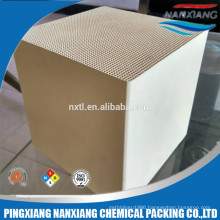 Alumina ceramic honeycomb monolith Heat exchanger for RTO 150*150*150/300mm, 25cells, 40cells, 43cells, 50 cells,60cells