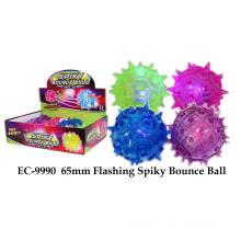 Funny 65mm Flashing Spiky Bounce Juguete bola