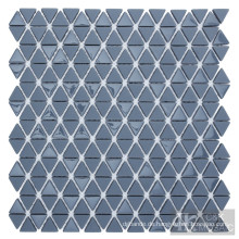 Graues Dreieck-Glasmosaik für Wanddekoration