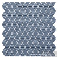 Mosaïque de verre Triangle gris pour décoration murale